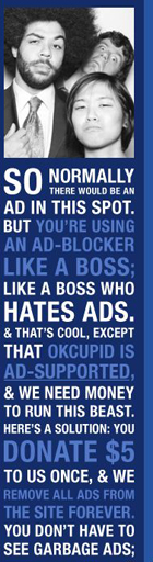 OKCupid's message to adblockers