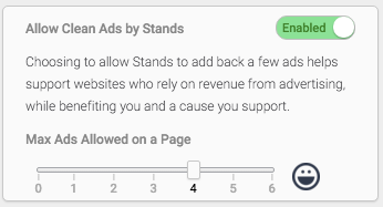 Allow Clean Ads by Stands