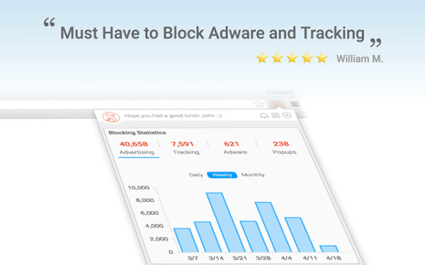 screenshot fair adblock protection dashboard